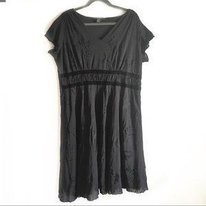 Style & Co black dress women's 2X short sleeve